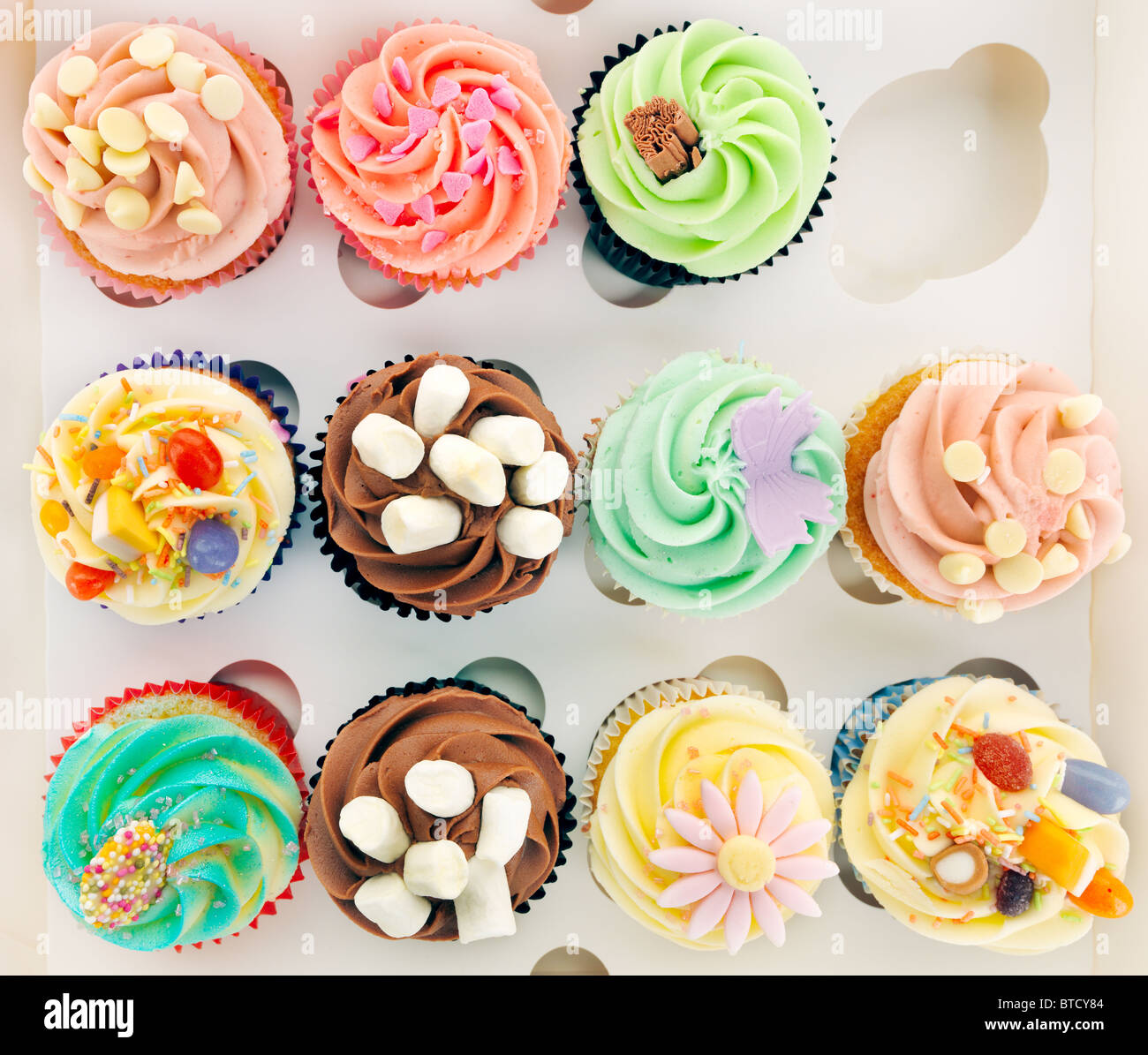 "Cupcakes ""in box"" Foto Stock"