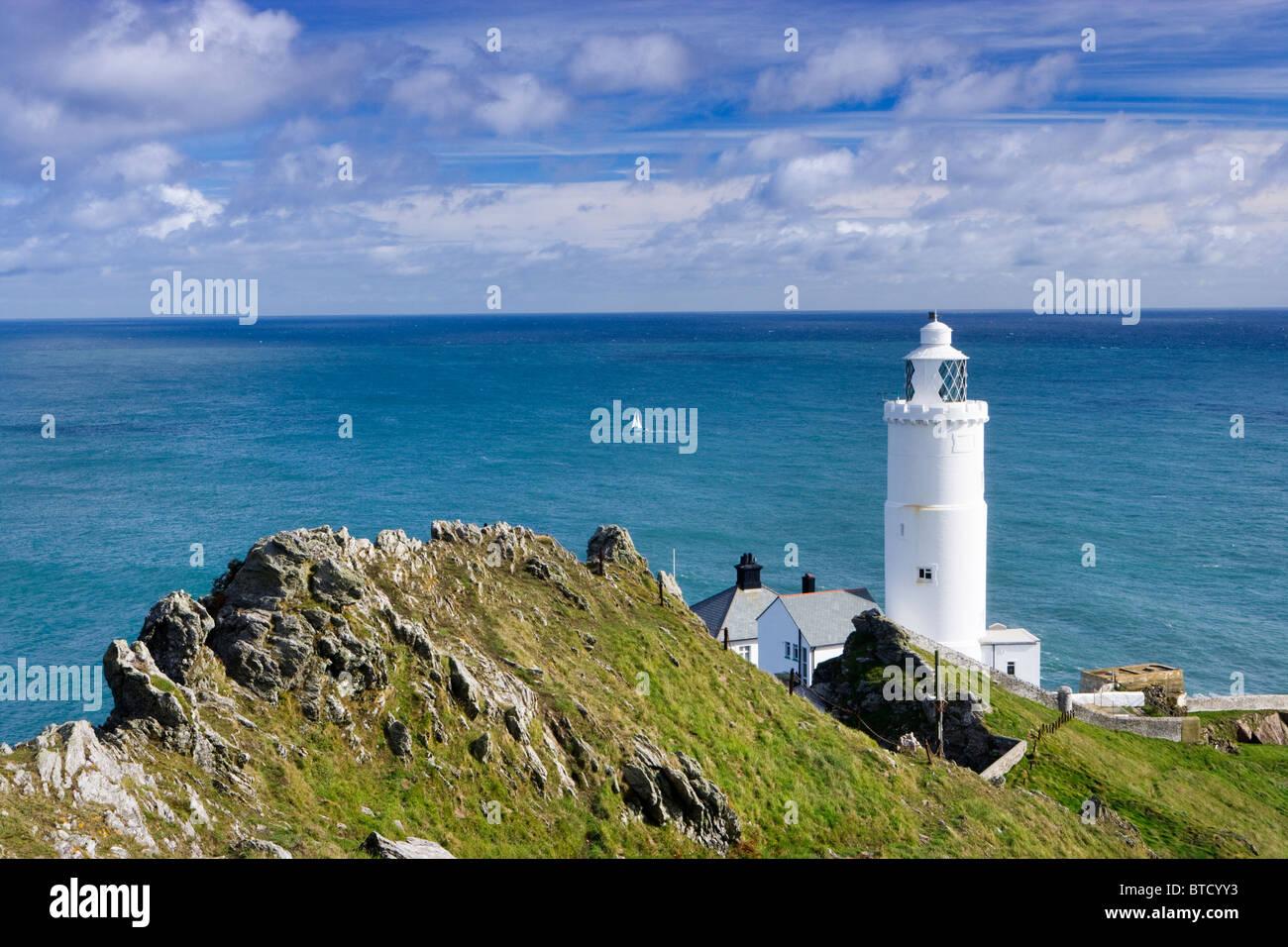 Il punto di inizio Lighthouse vicino a Salcombe, Devon, Regno Unito. Immagini Stock