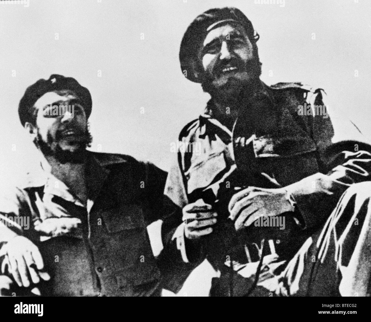 Fidel Castro e Che Guevara Foto Stock