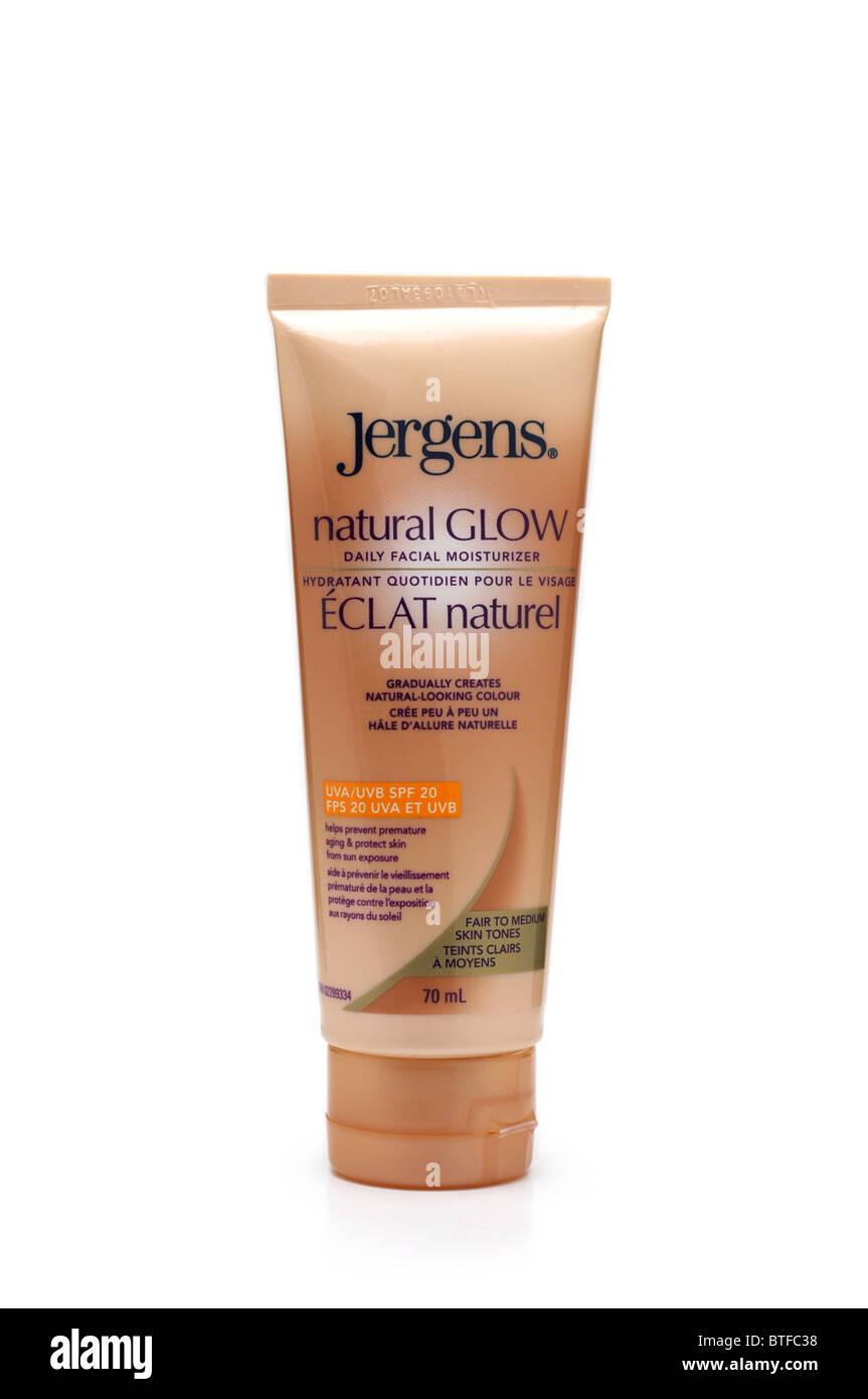 Crema idratante viso, Bronzer, abbronzatura Tan Immagini Stock