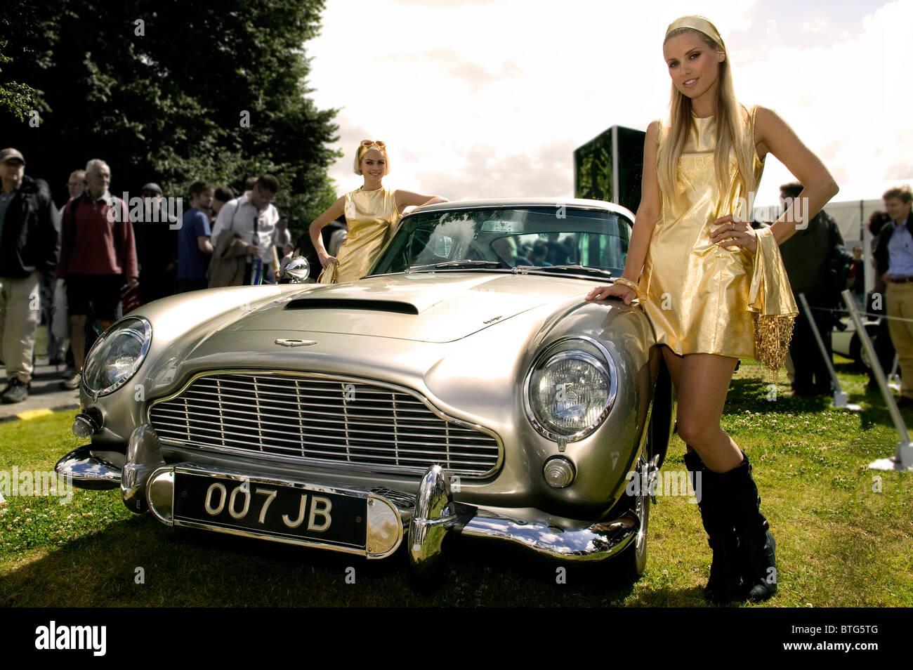 James Bond 007 Aston Martin DB5 Immagini Stock