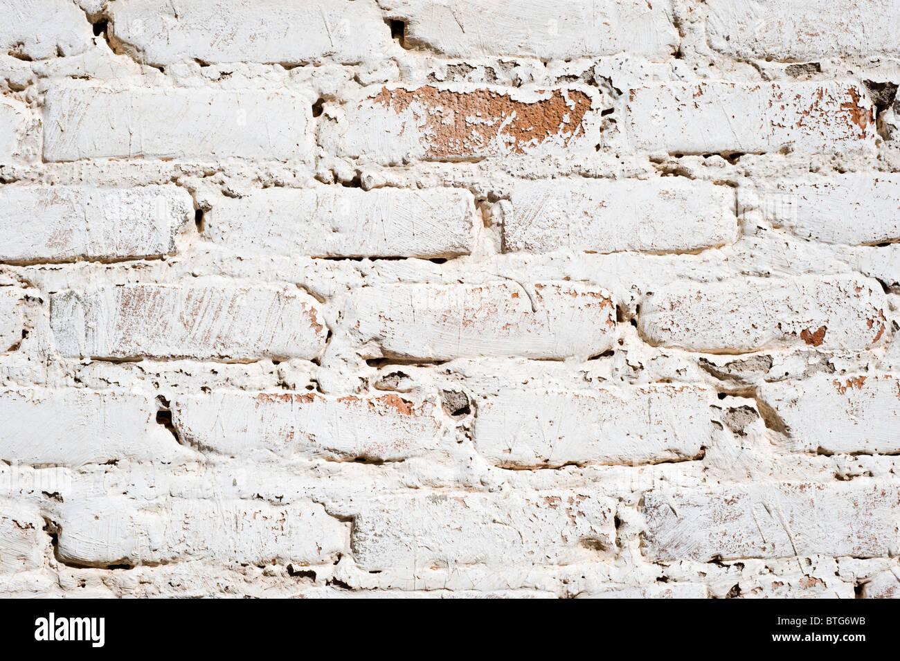 Dettaglio di un vecchio adobe imbiancate muro di mattoni trovati in Carrizozo, Nuovo Messico. Immagini Stock