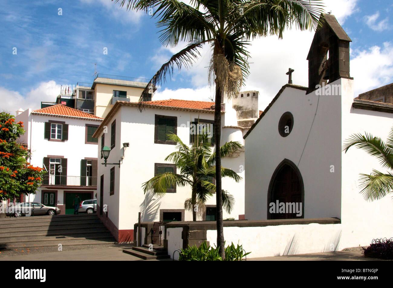 Corpo Santo Cappella Funchal Città Vecchia Madeira Portogallo Immagini Stock