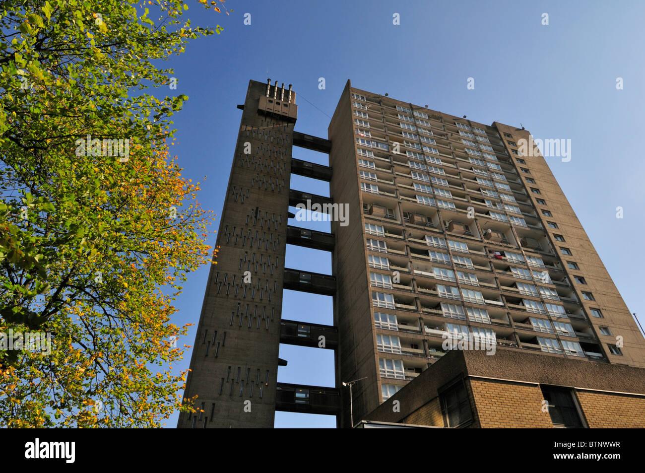 Torre Balfron, Brownfield alloggiamento sociale station wagon, pioppo, Tower Hamlets, East London E14, Regno Unito Immagini Stock