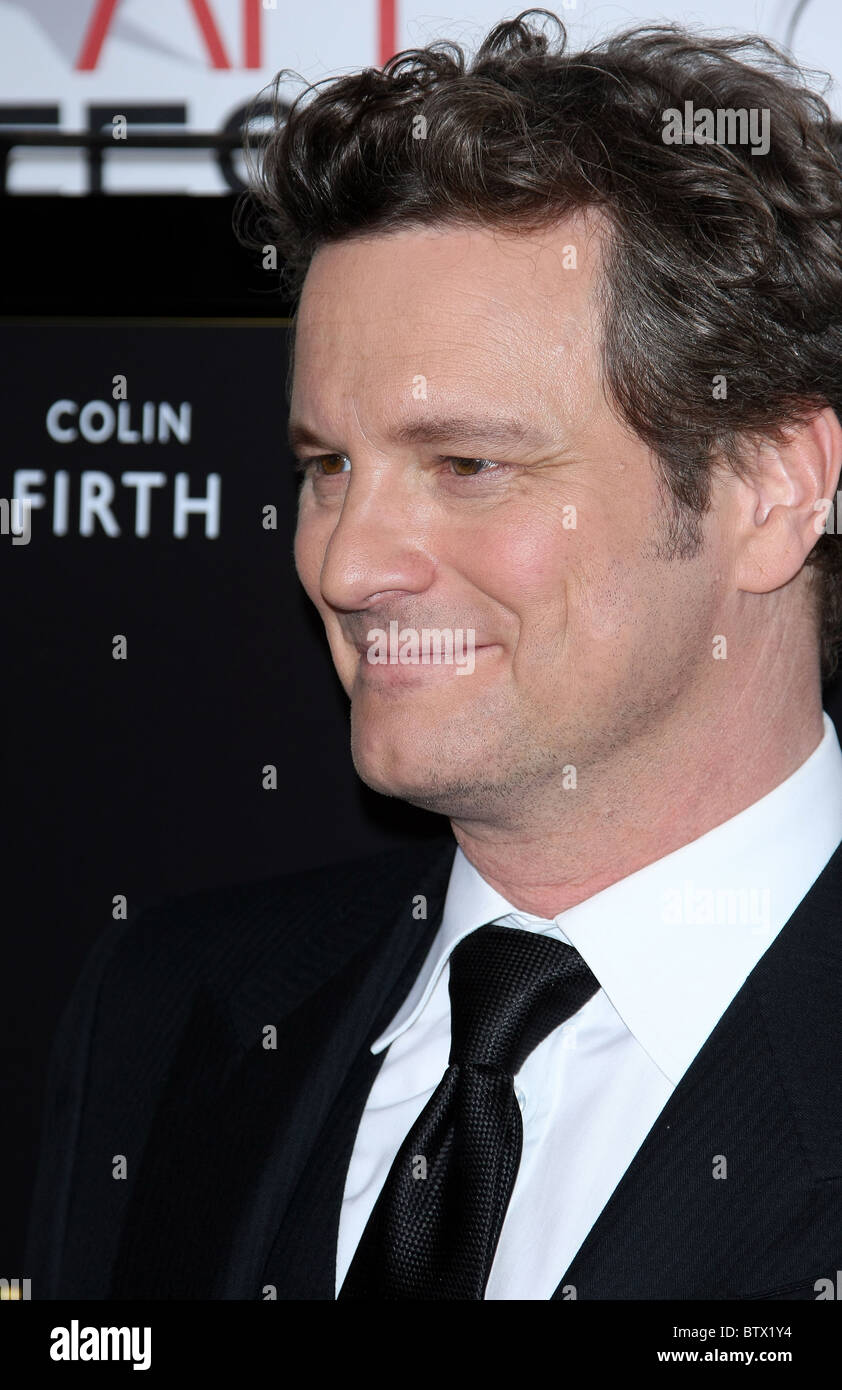 COLIN FIRTH DISCORSO DEL RE ENSEMBLE omaggio. AFI FEST 2010 HOLLYWOOD Los Angeles California USA 05 Novembre 2010 Immagini Stock