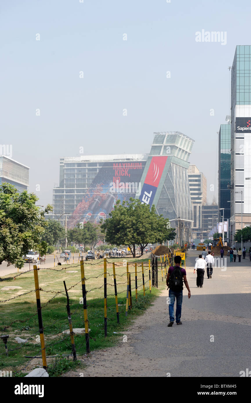 Gurgaon, la tecnologia di città a sud di Delhi, India Immagini Stock