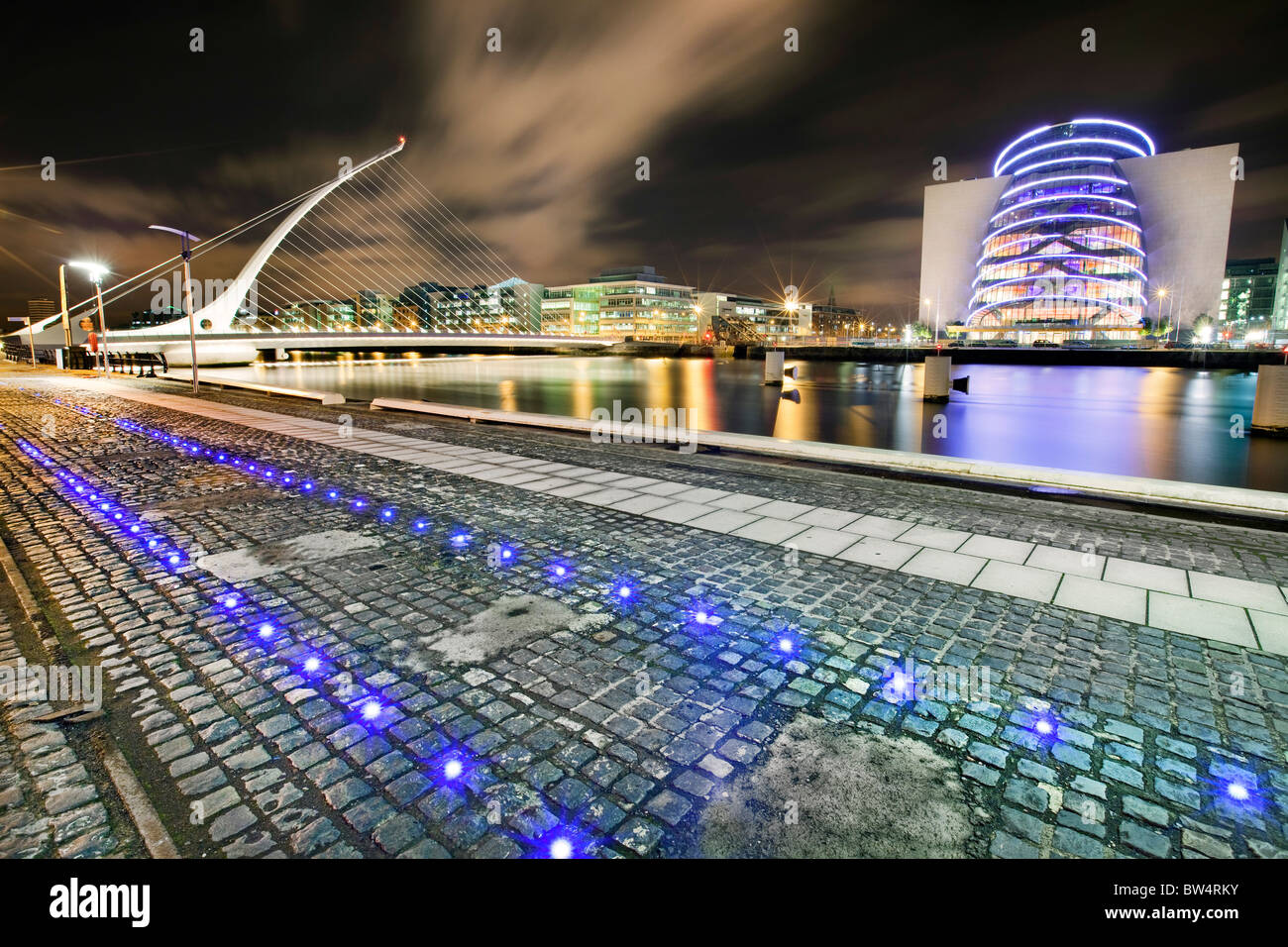 Samuel Beckett Bridge, Dublin . Foto Stock