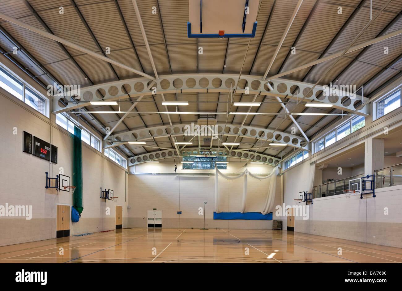 Ibstock luogo School Sports Hall. Immagini Stock