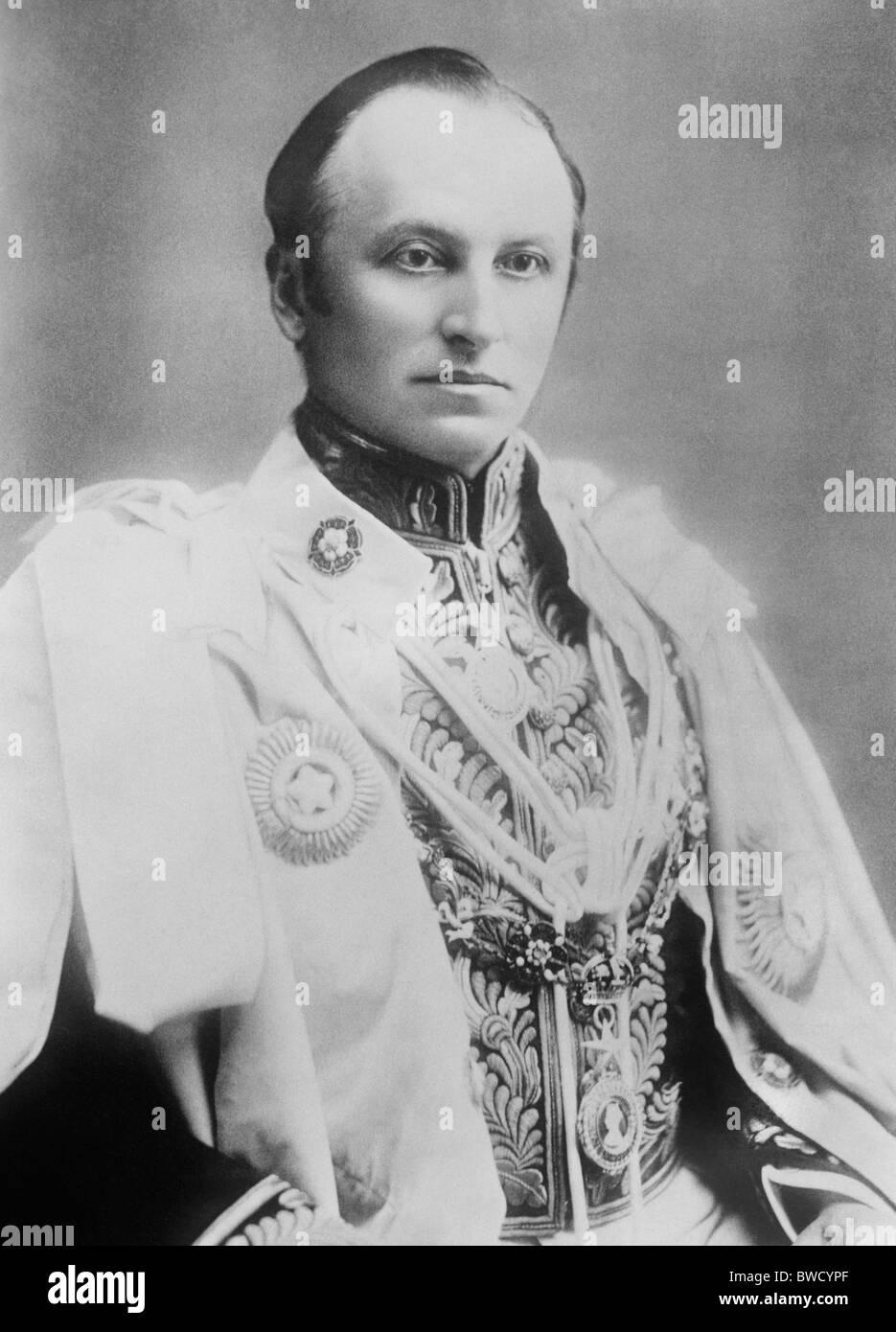 Vintage foto ritratto c1900 del signore Curzon (George Curzon, primo marchese Curzon di Kedleston) come vicerè Immagini Stock