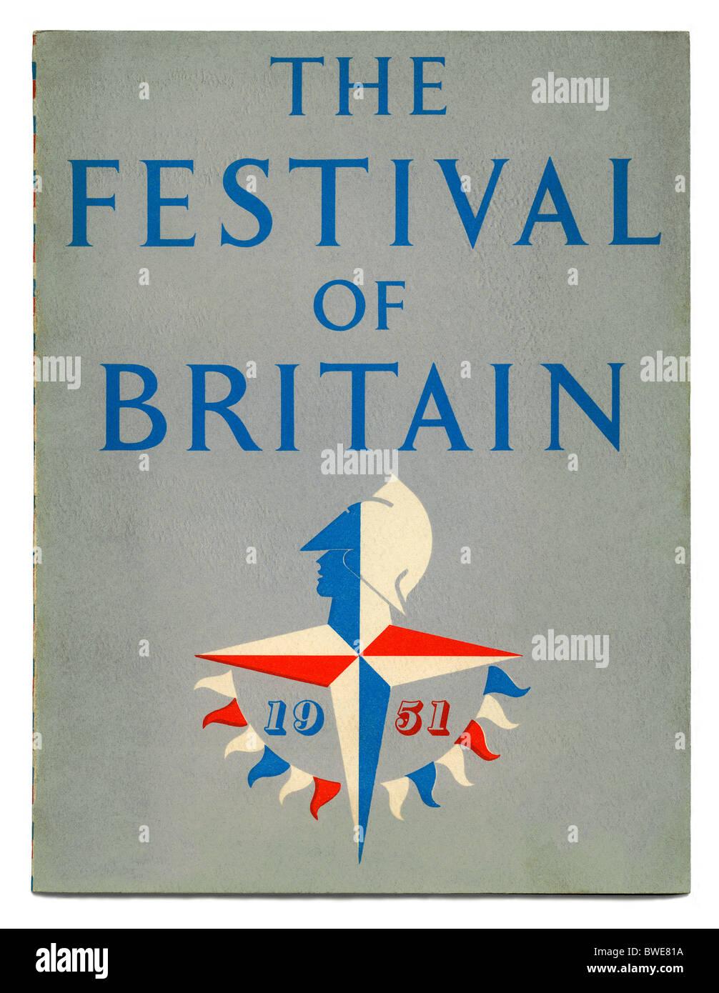 Coperchio della guida ufficiale Libro per il 1951 Festival di Gran Bretagna Immagini Stock