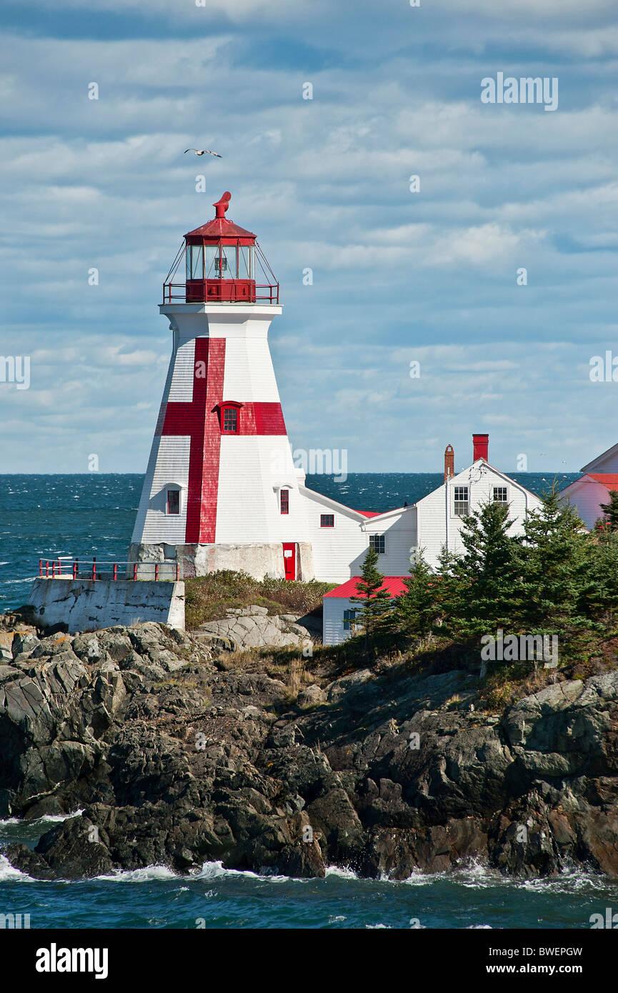 Porto di testa leggera, Campobello Island, New Brunswick, Canada Immagini Stock