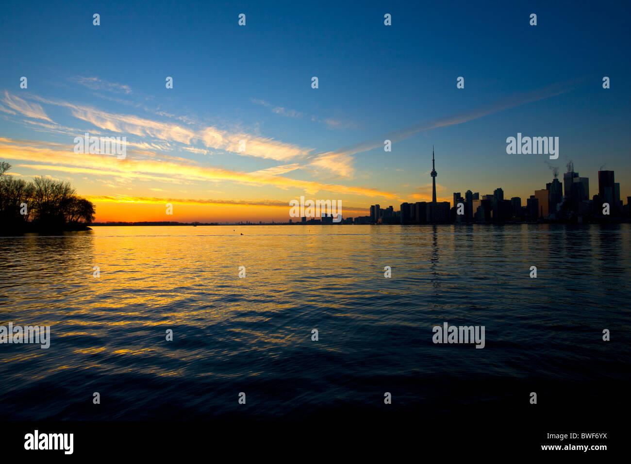 Toronto in Canada al tramonto Nov 2010 Immagini Stock