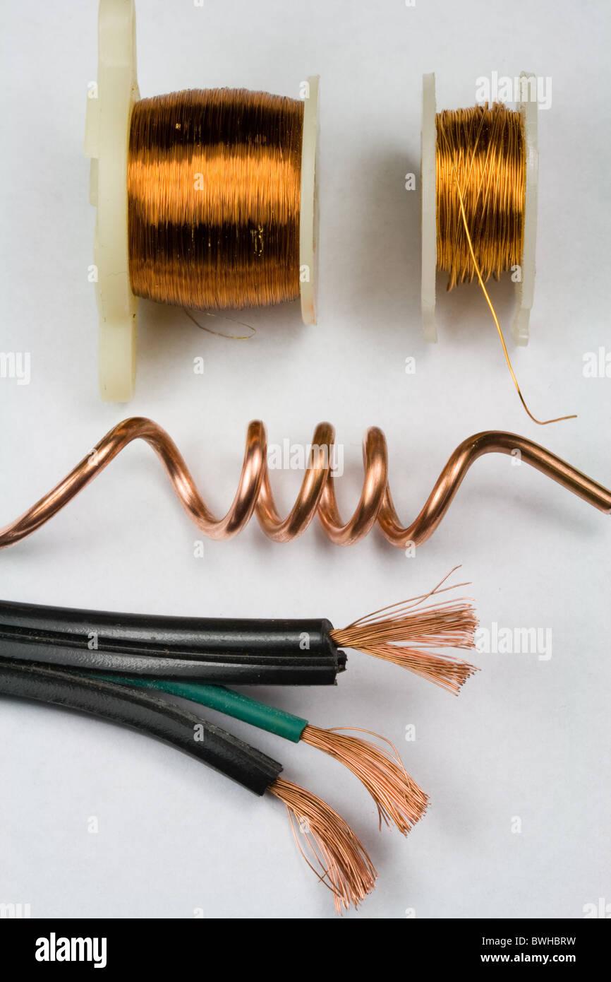 Di rame del filo elettrico Immagini Stock