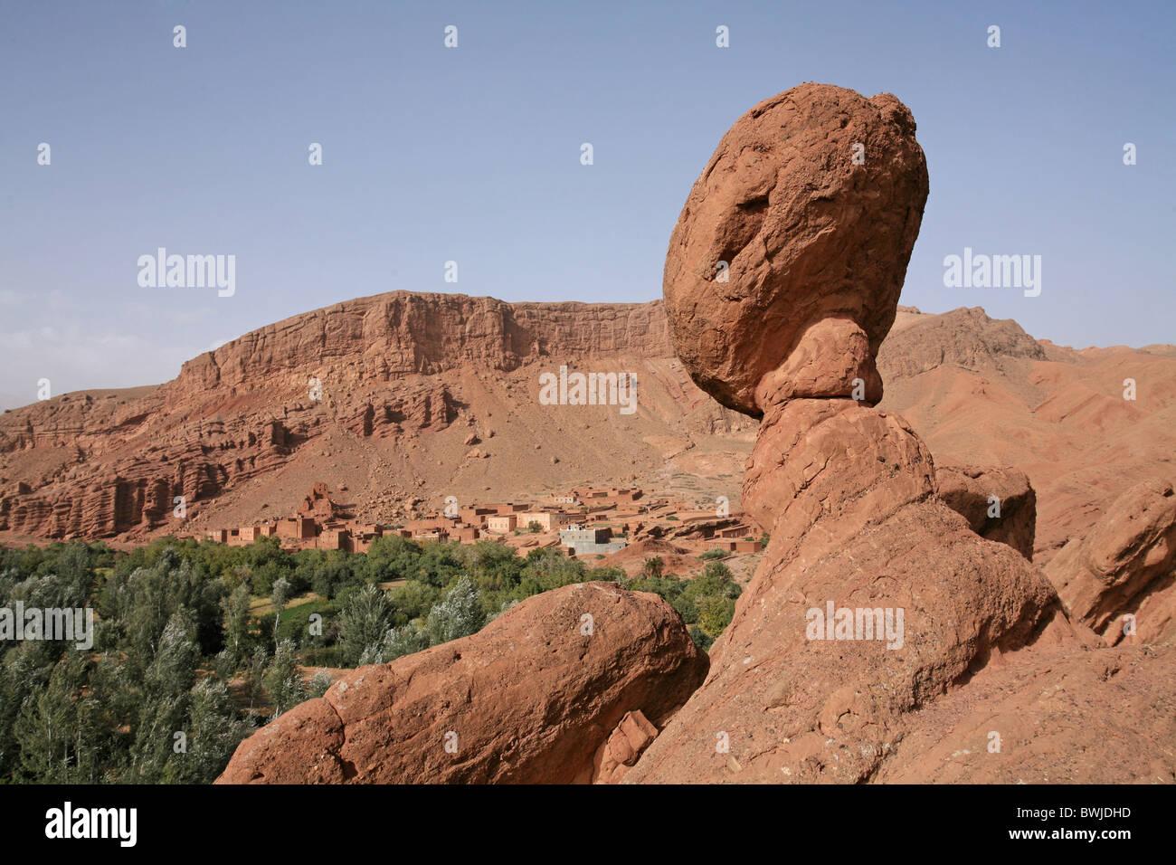 Ait-Ali Cobrafels cliff formazione Dadestal Dadesschlucht Marocco Africa Africa del Nord Immagini Stock