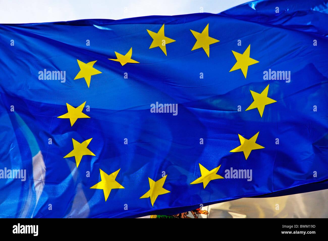 Unione Europea la bandiera dell'UE Immagini Stock