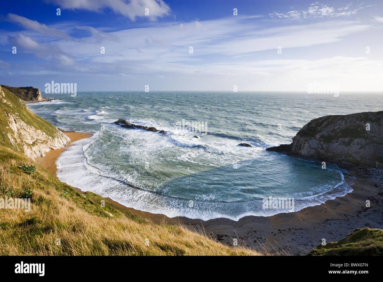 Man o' guerra Cove (St Oswald's Bay), Dorset, Regno Unito Immagini Stock