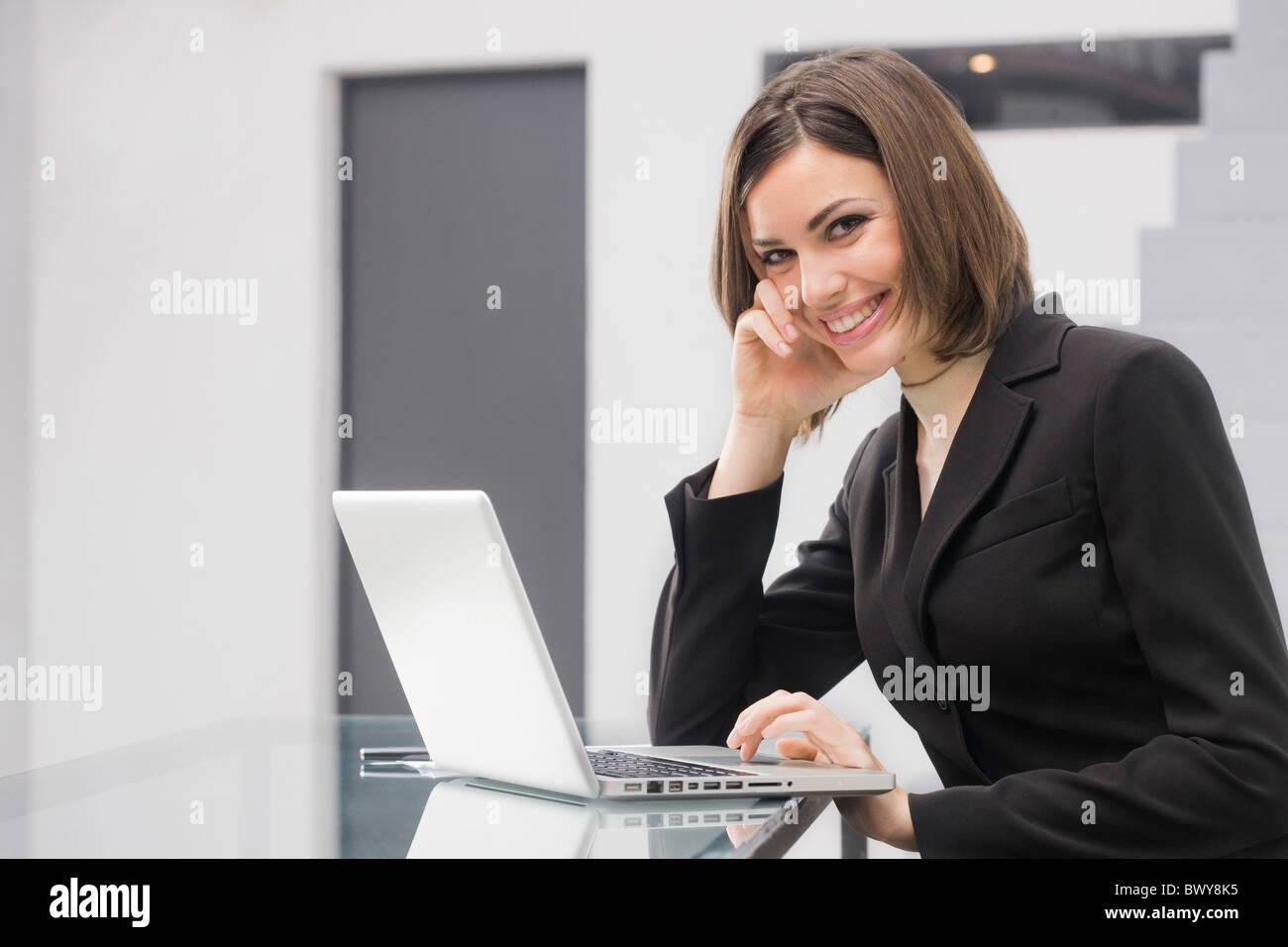 Donna di affari Foto Stock