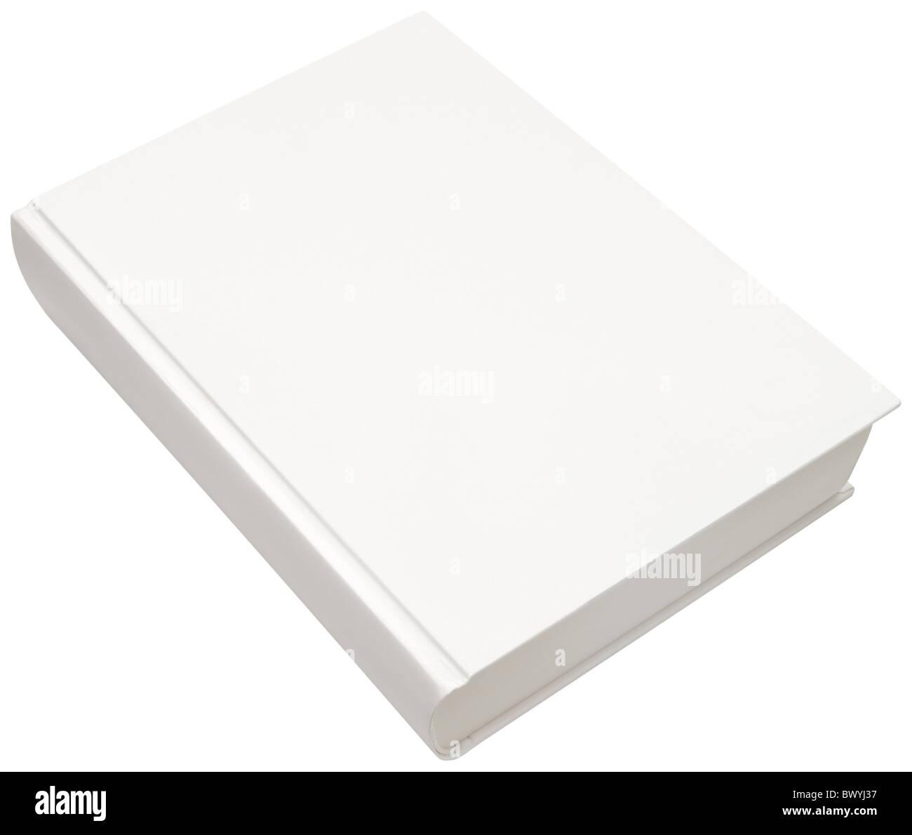 Spaccato di vuoto bianco modello di disco per la copertina del libro isolato con tracciato di ritaglio Immagini Stock
