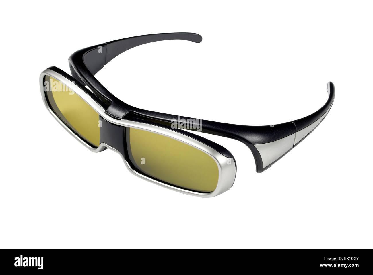 occhiali 3D Immagini Stock