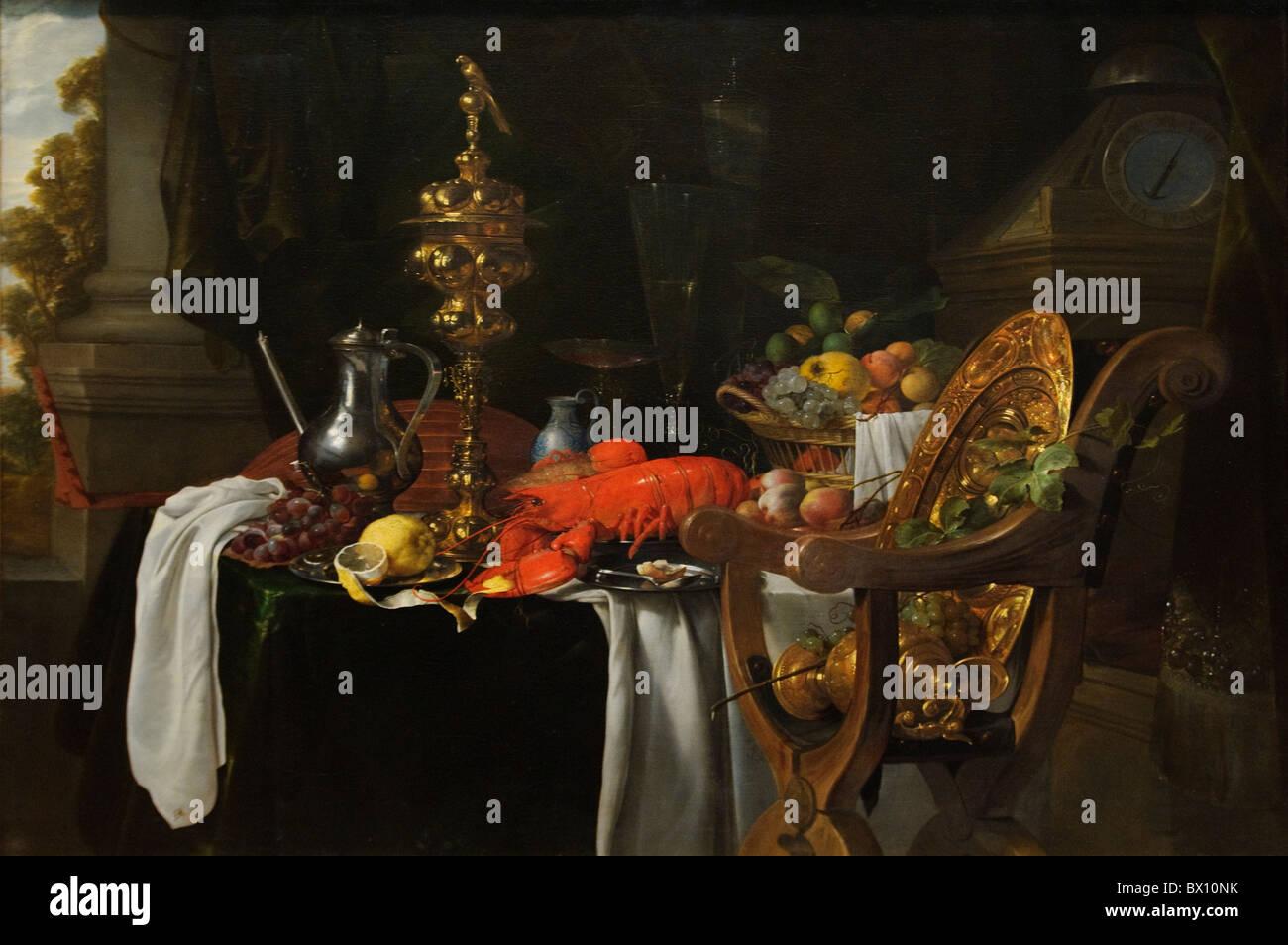 Ancora in vita: una scena di Banqueting, di Jan Davidsz de Heem Foto Stock