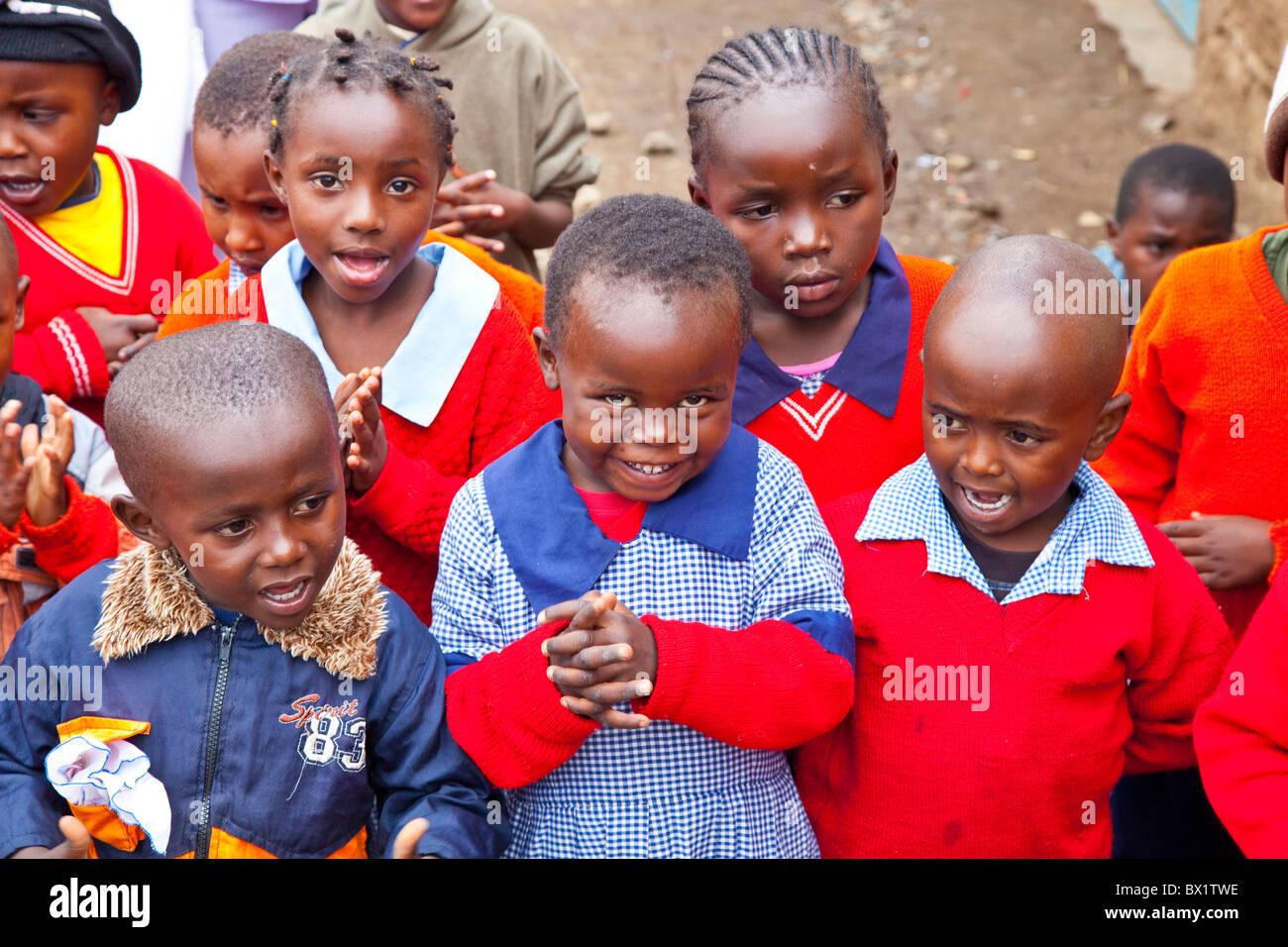 In età prescolare Maji Mazuri Centro per l'infanzia, Nairobi, Kenia Immagini Stock