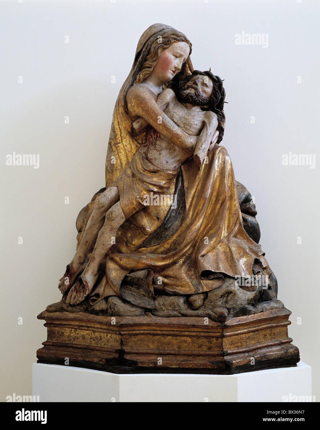 Pietà da Unna Maria Magdalena arte religiosa specialità in Cristo Gesù di Nazareth museum Westfalisches Immagini Stock