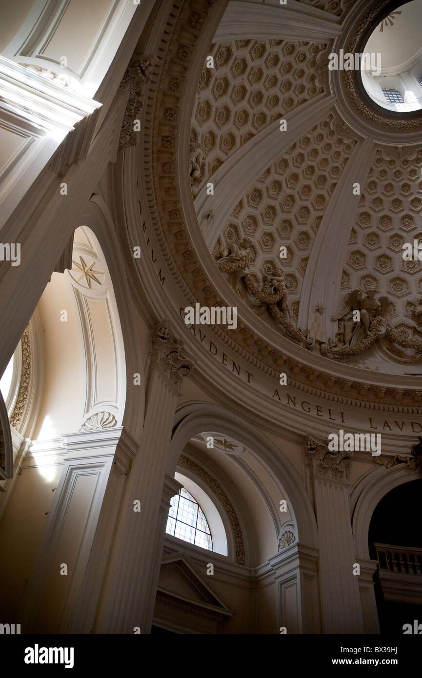 """Cupola interno Chiesa Collegiata di Santa Maria Assunta in Cielo"""" Ariccia Italia Immagini Stock"""