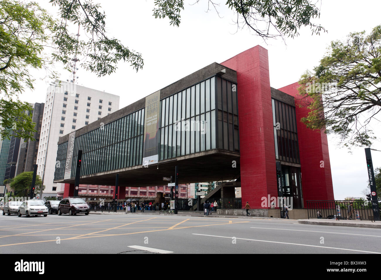 Il Museu de Arte de Sao Paulo - MASP (Sao Paulo Museum of Art), Avenida (Avenue Paulista, Sao Paulo, Brasile Immagini Stock