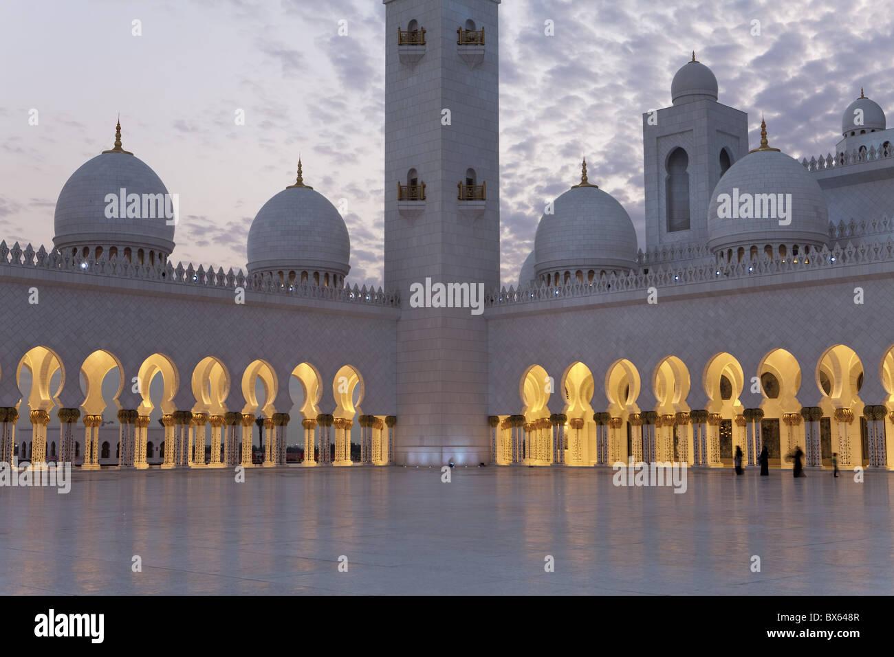 Sheikh Zayed Bin Sultan Al Nahyan moschea, Abu Dhabi, Emirati Arabi Uniti, Medio Oriente Immagini Stock