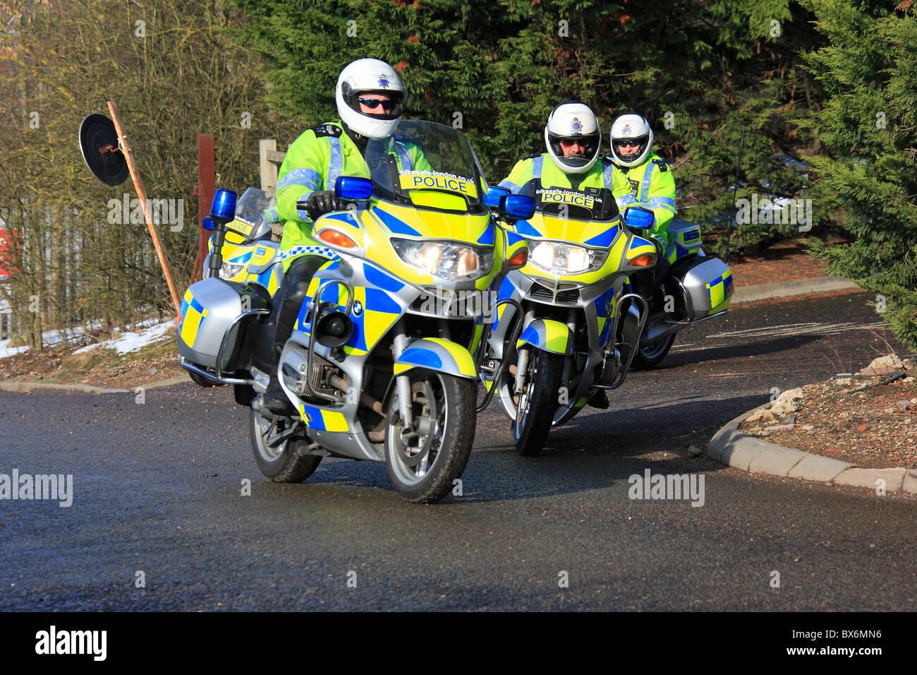 Moto della polizia Immagini Stock