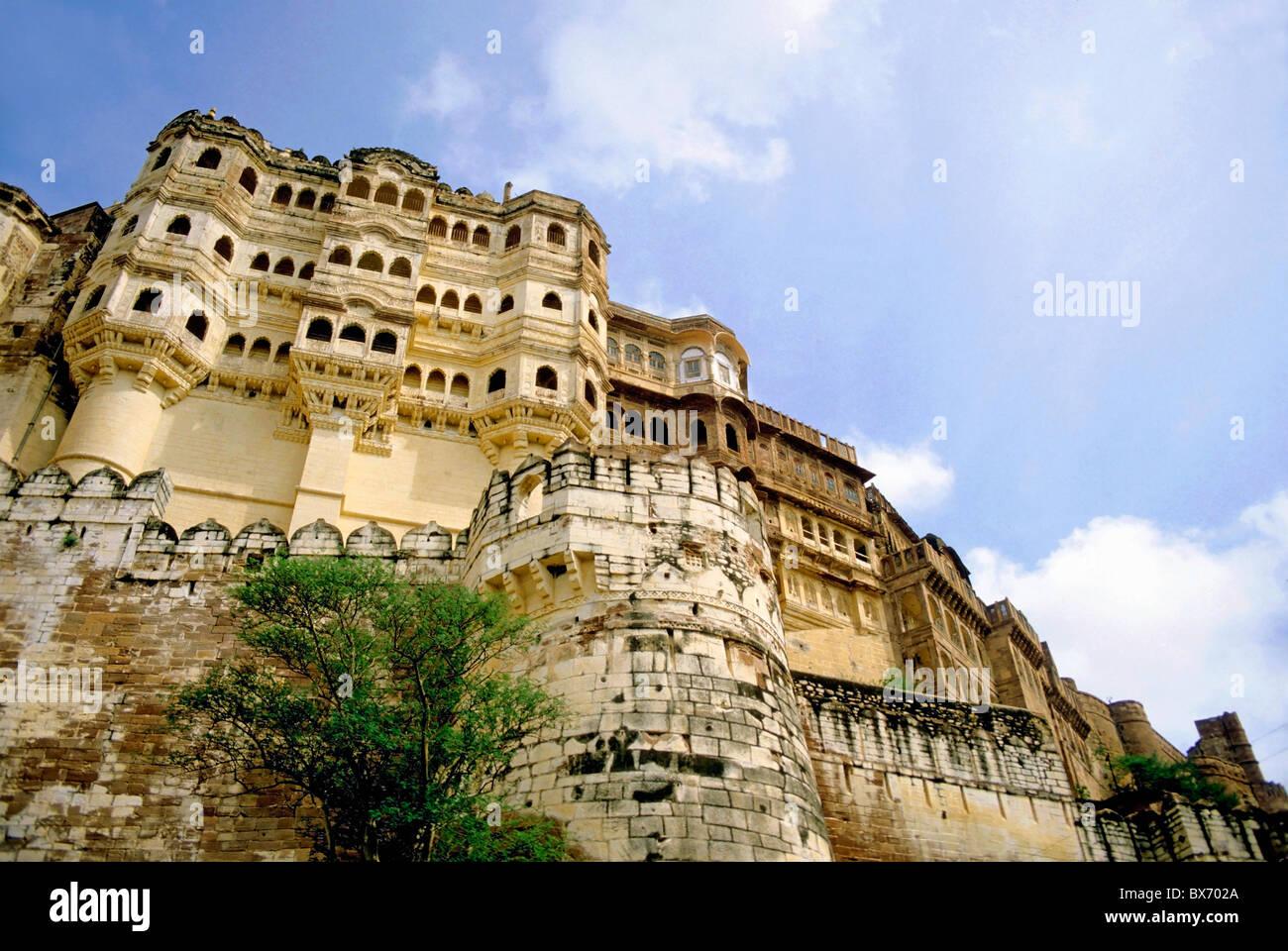 Forte Mehrangarh, Jodhpur, Rajasthan, India. Immagini Stock