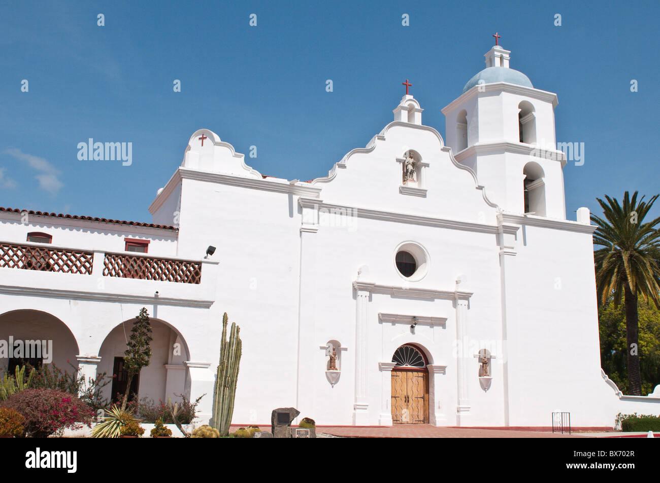 La missione di San Luis Rey de Francia, Oceanside, California, Stati Uniti d'America, America del Nord Immagini Stock