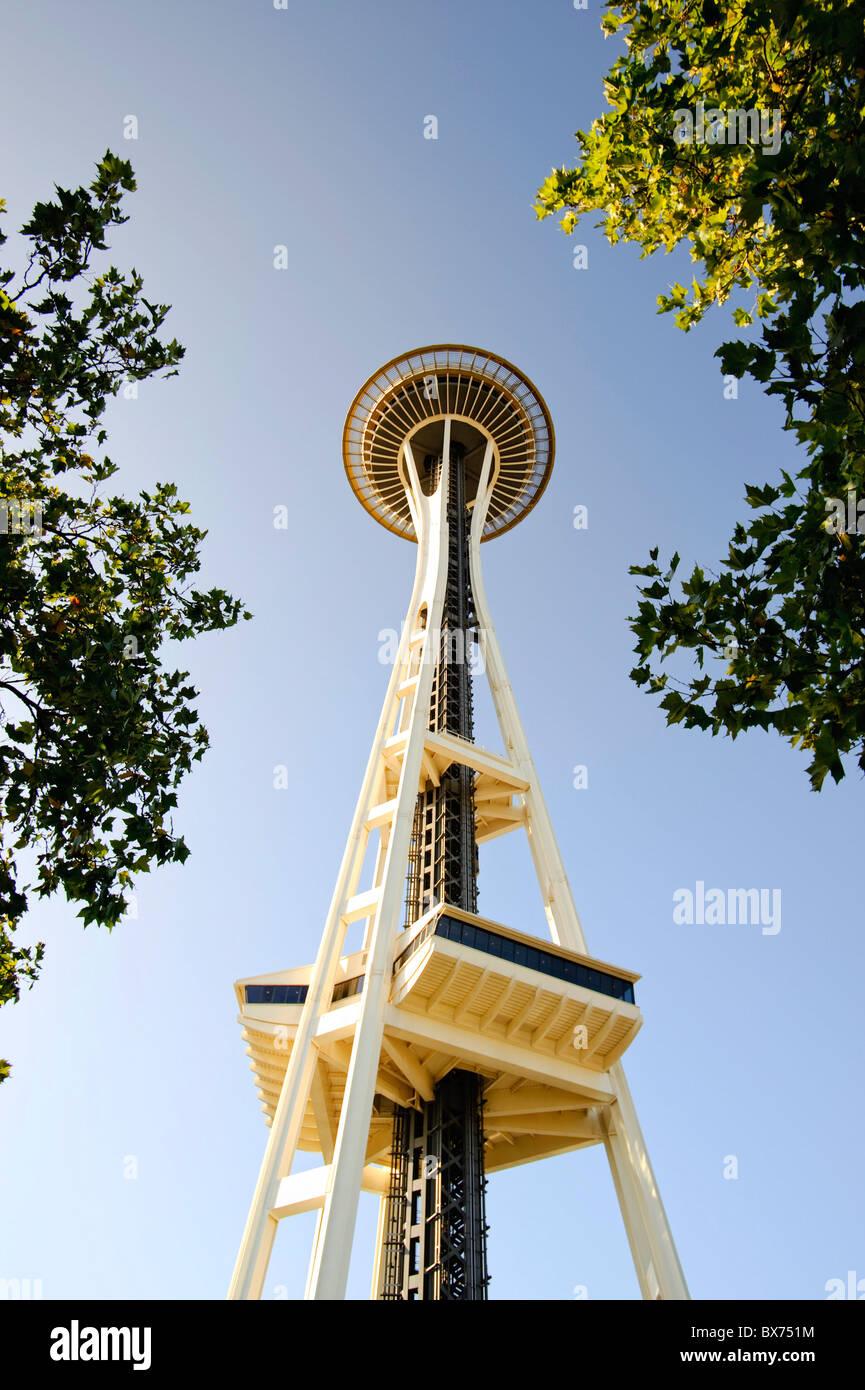 Stati Uniti d'America, Washington, Seattle Space Needle Immagini Stock