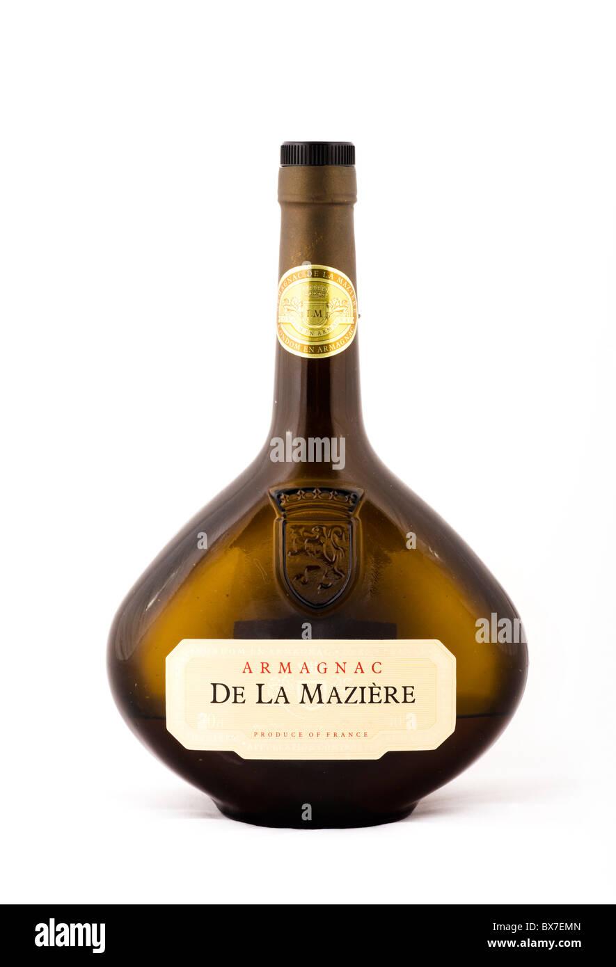 Bottiglia di Armagnac francese Immagini Stock
