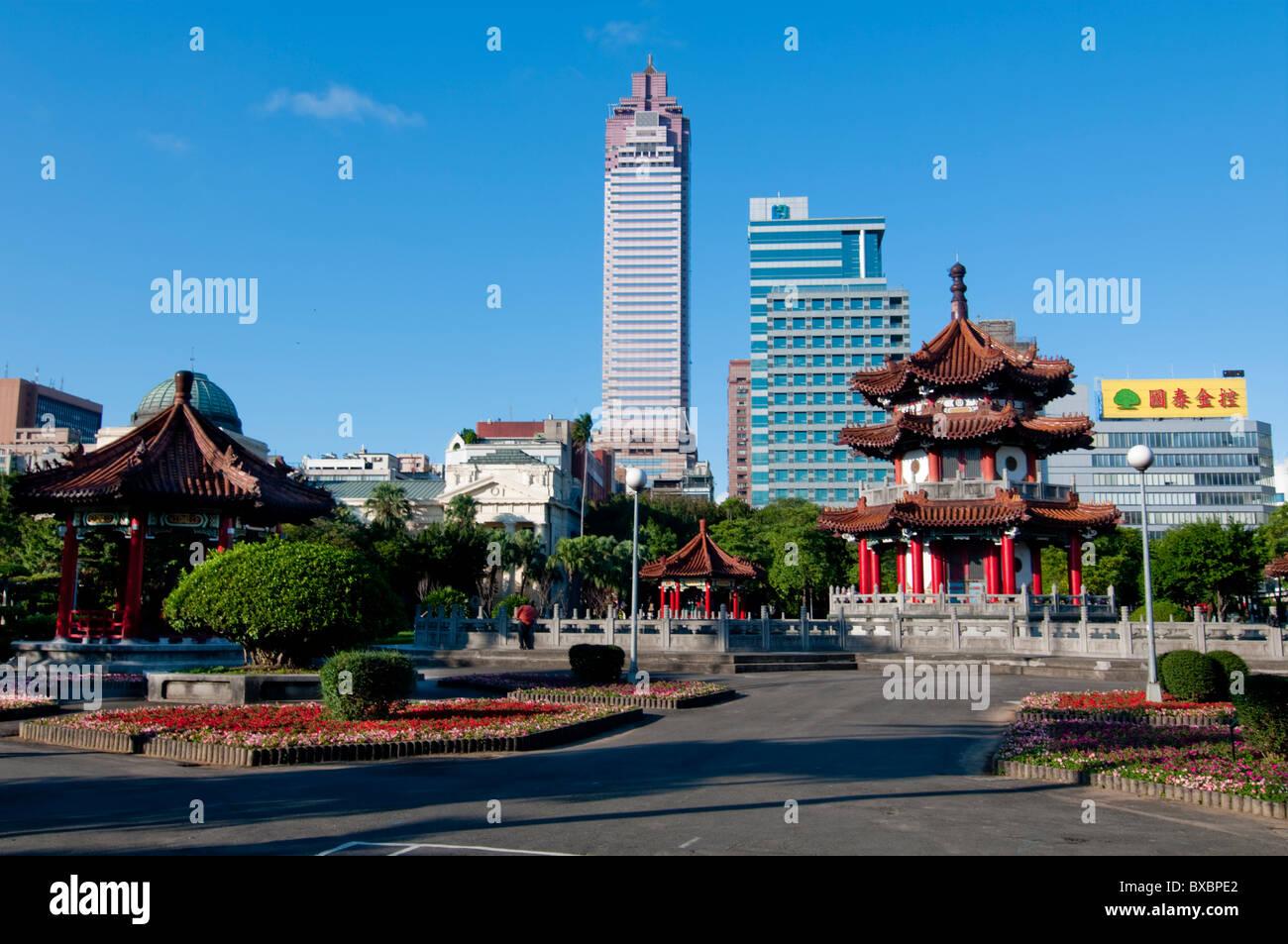 Asia, Taiwan, Taipei City Park pagoda Immagini Stock