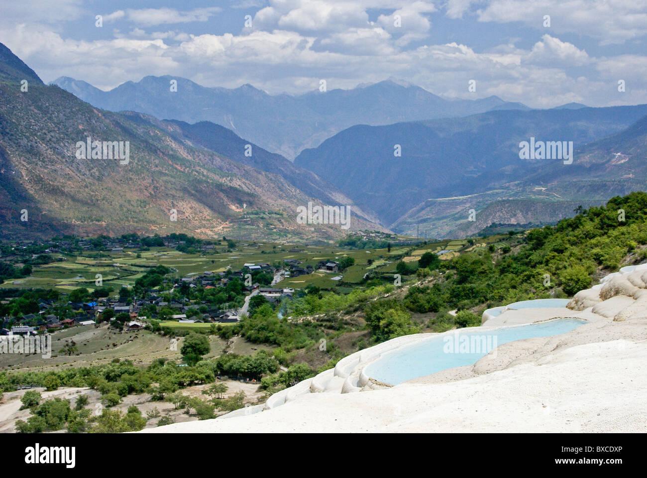 Baishui-tai (bianco terrazza dell'acqua), Shangri-la, Yunnan, Cina Immagini Stock