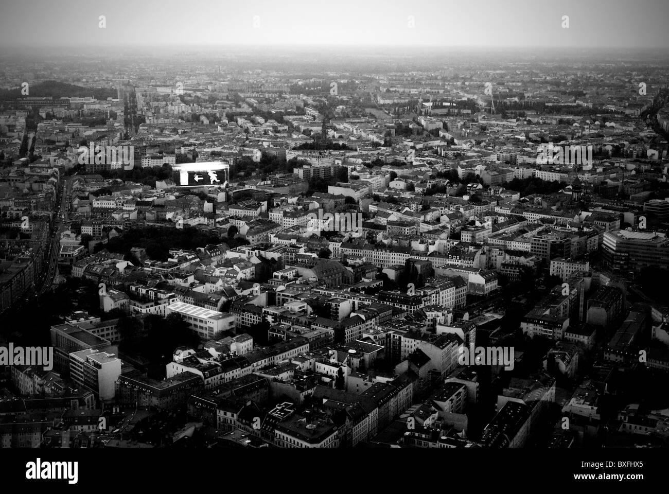 Berlino - Aria vista da finestra Immagini Stock