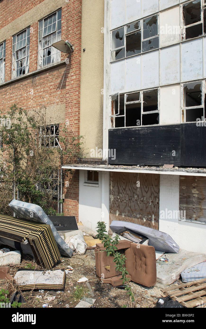 La fabbrica in disuso la costruzione di High Wycombe UK Immagini Stock
