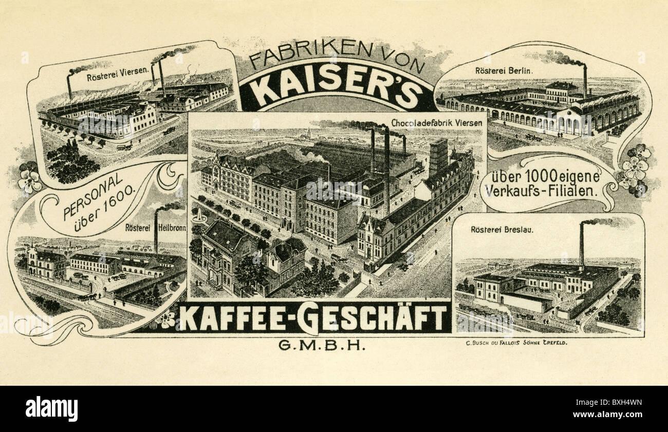 Industria, aziende, Kaiser Coffee Company, Berlino, Germania, 1906, 1900s, 00s, xx secolo, la storica, storica, Immagini Stock