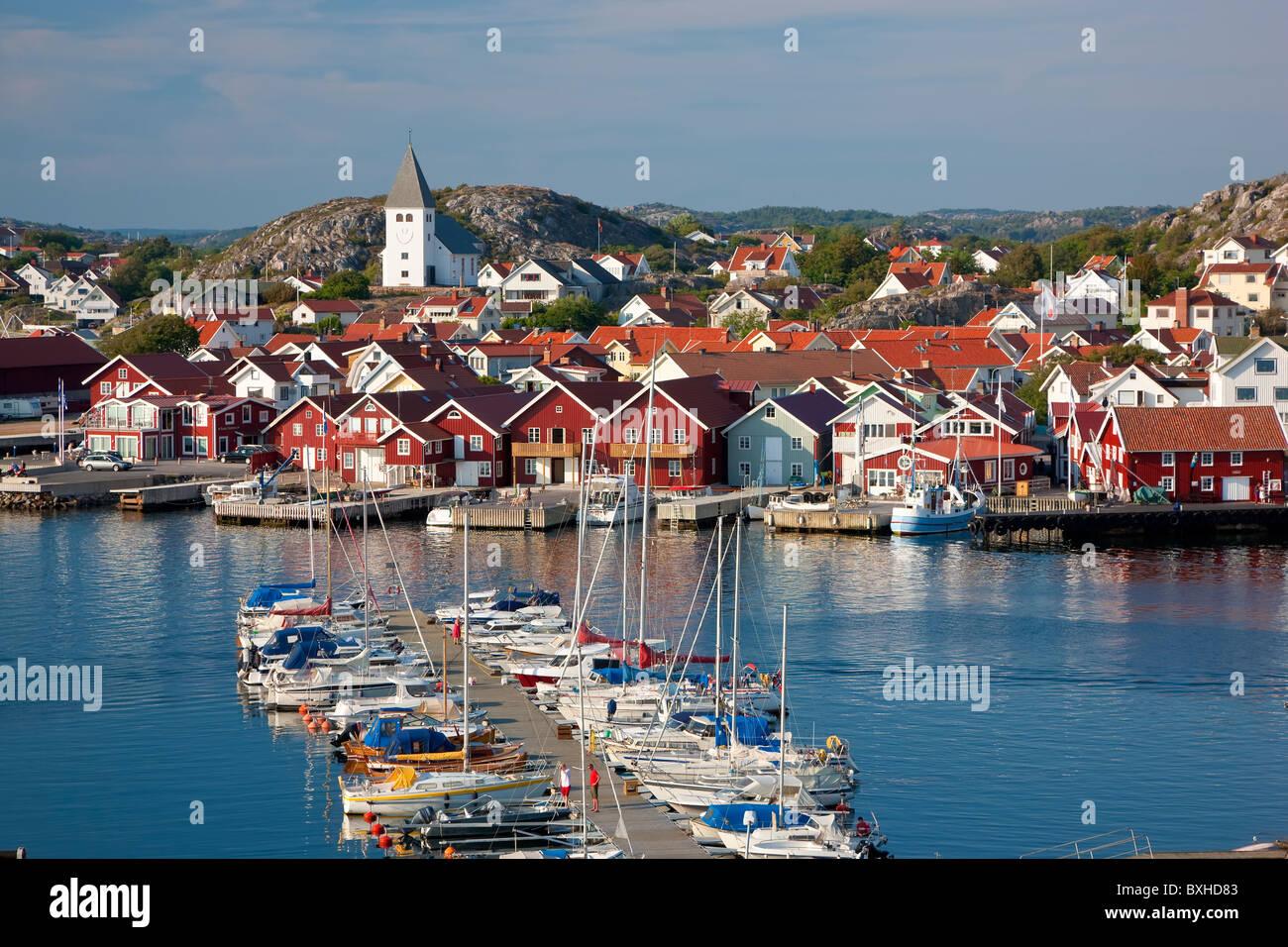 Villaggio di SkŠrhamn sull isola di Tjorn, Bohuslan, sulla costa occidentale della Svezia Immagini Stock