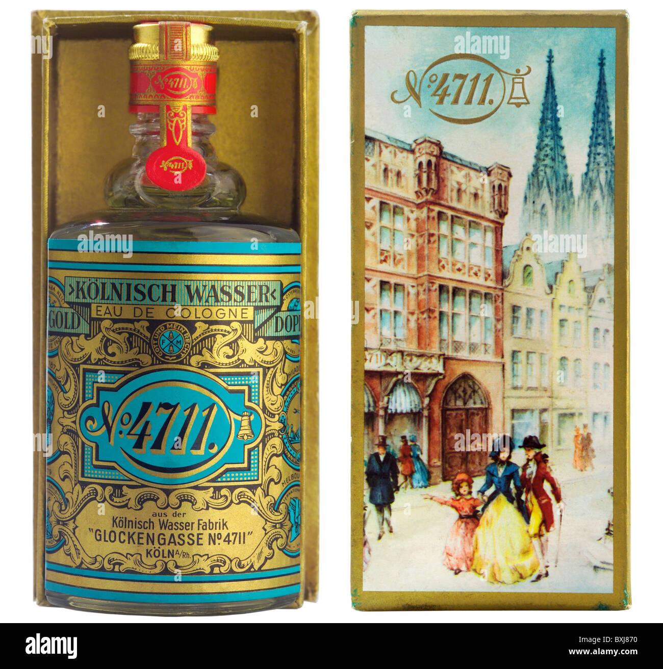 Cosmetici, profumi, Eau de Cologne, bottiglia 4711, Germania, circa 1959, 1950s, 50s, xx secolo, la storica, storica, Immagini Stock