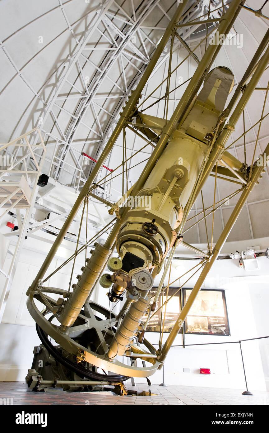 Telescopio rifrattore presso il Royal Observatory in Greewnwich, London, England, Regno Unito Immagini Stock