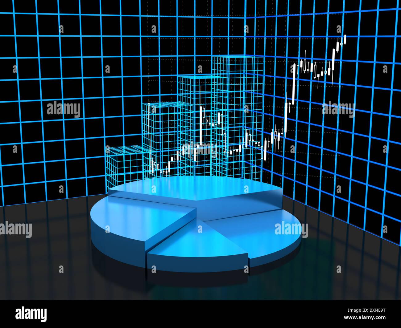 3d grafico astratto per la presentazione della società Immagini Stock