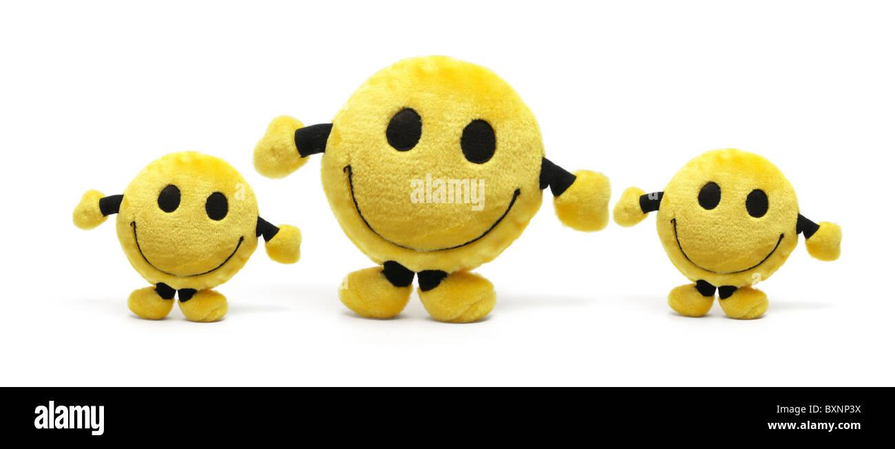 Smiley giocattoli morbidi Immagini Stock