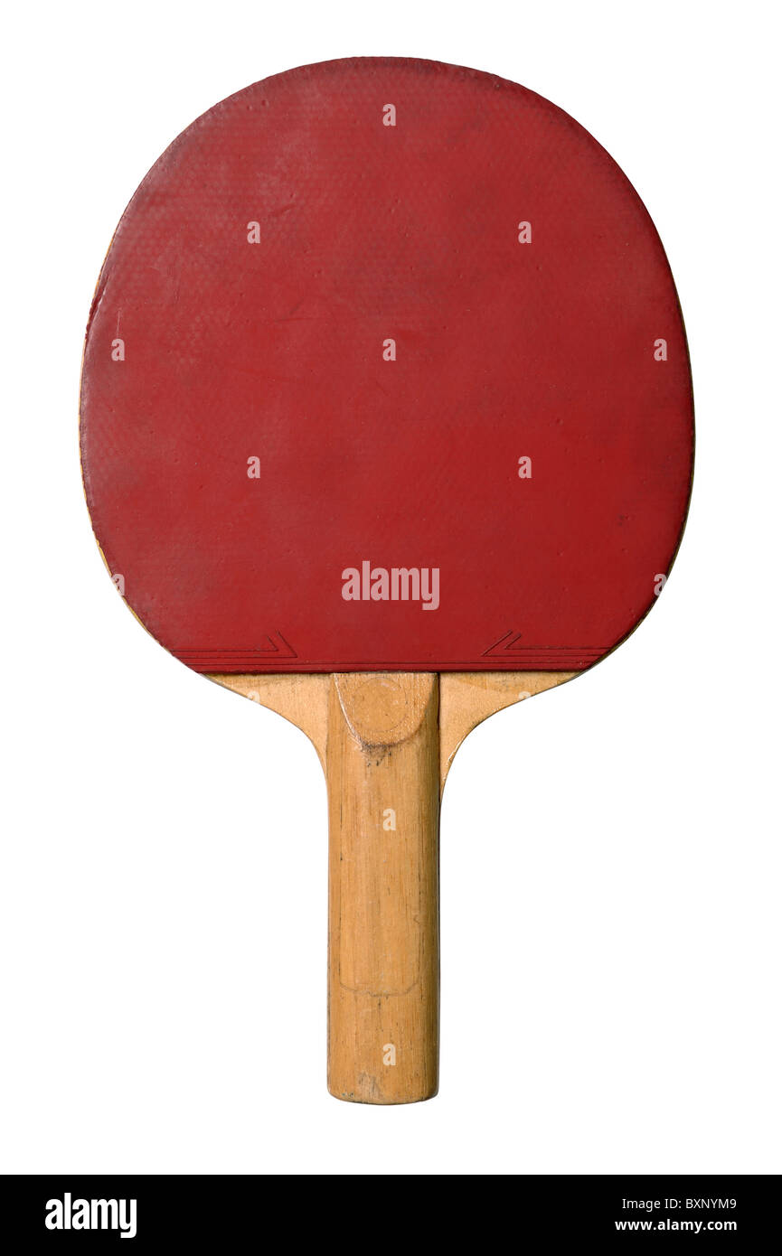 Red table tennis bat Immagini Stock
