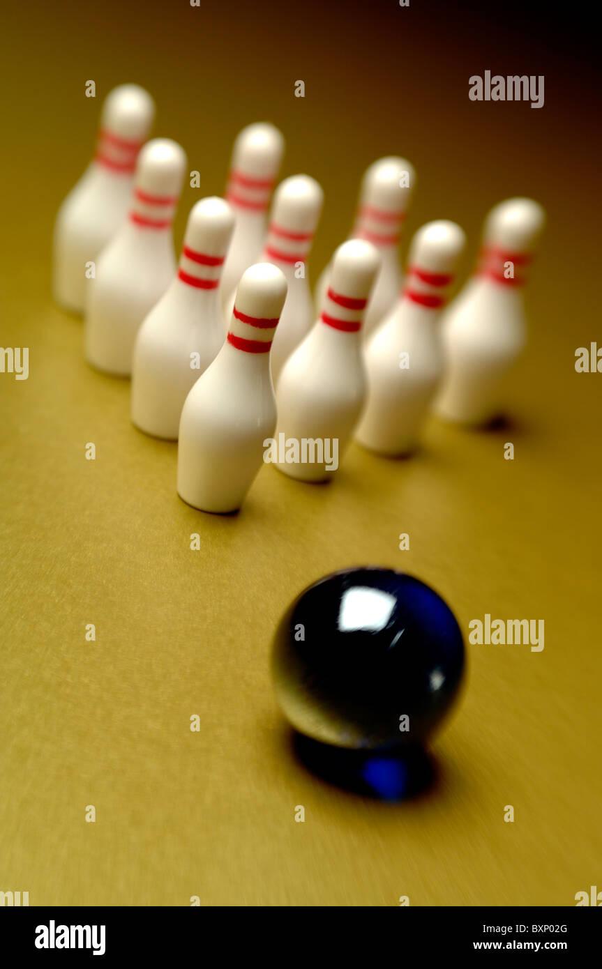 10 pin bowling Immagini Stock