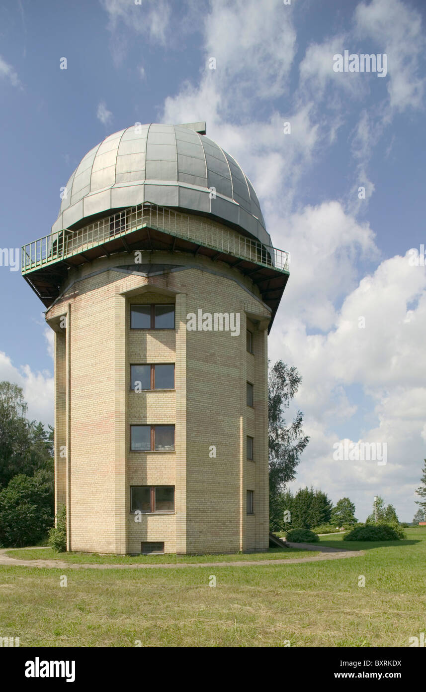 La lituania, Moletai, vista dell'Osservatorio astronomico Immagini Stock
