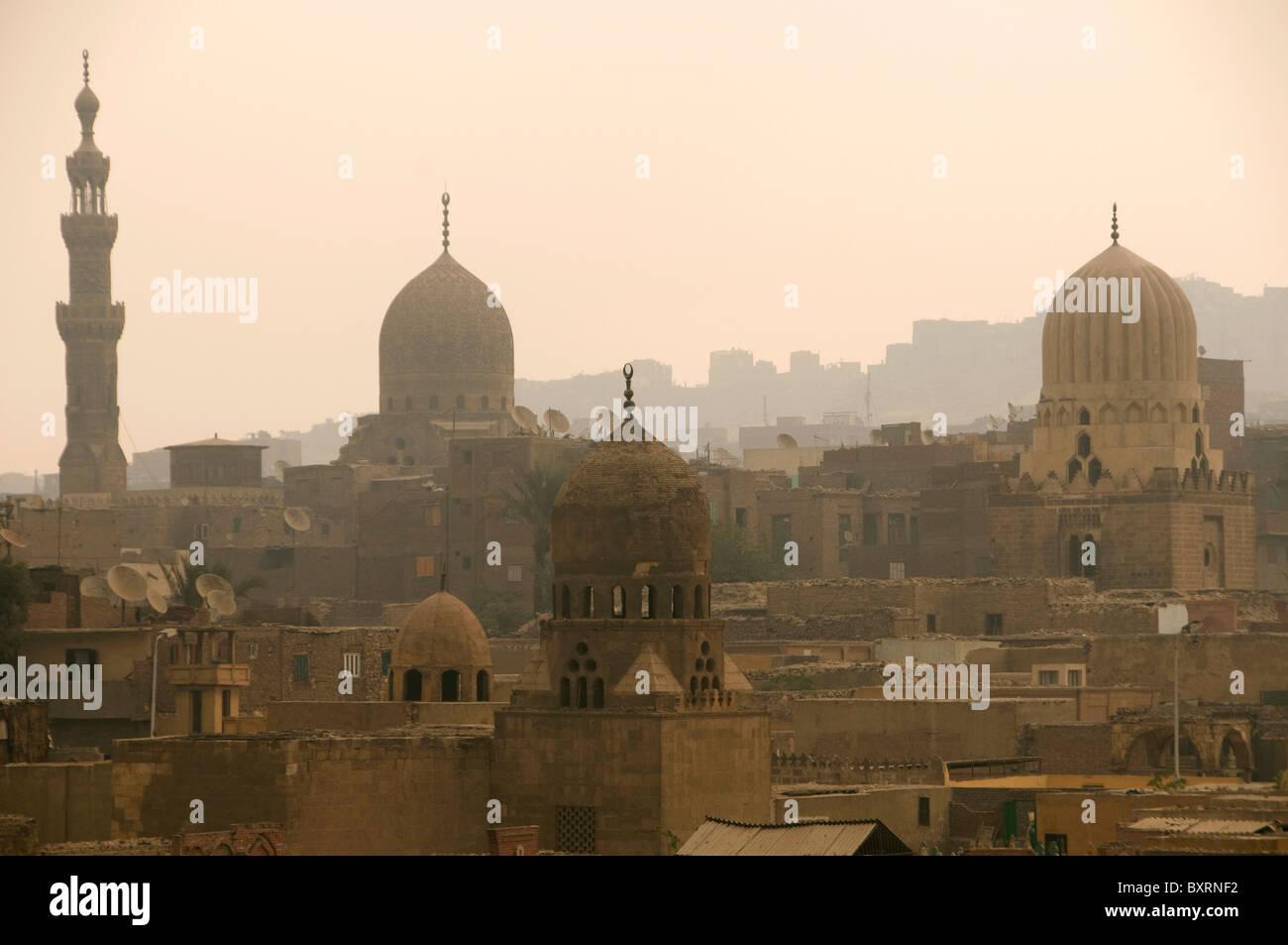Egitto, vecchio Cairo, città dei morti (nord del cimitero) Immagini Stock