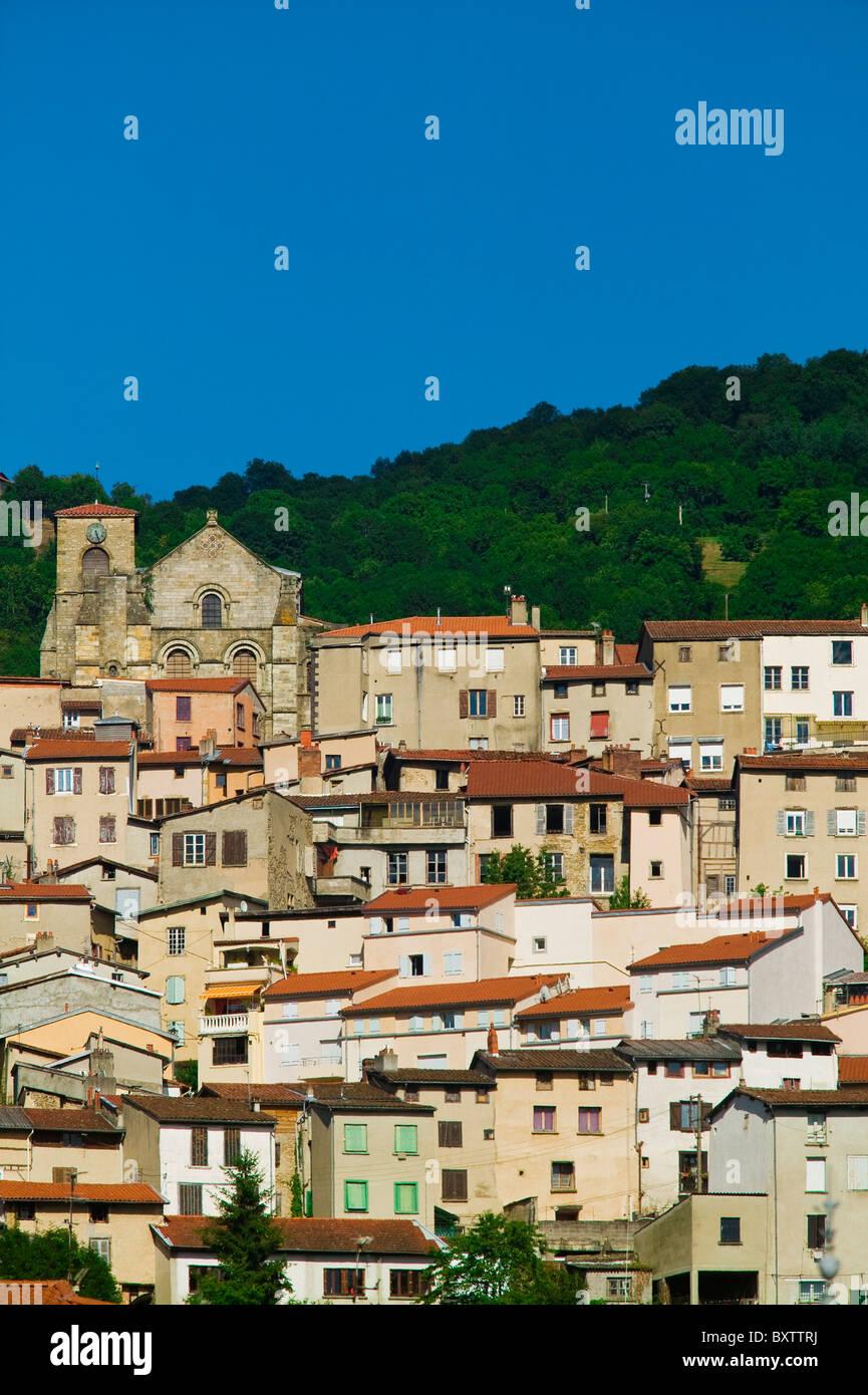Thiers,Puy de Dôme, Auvergne, Francia Foto Stock