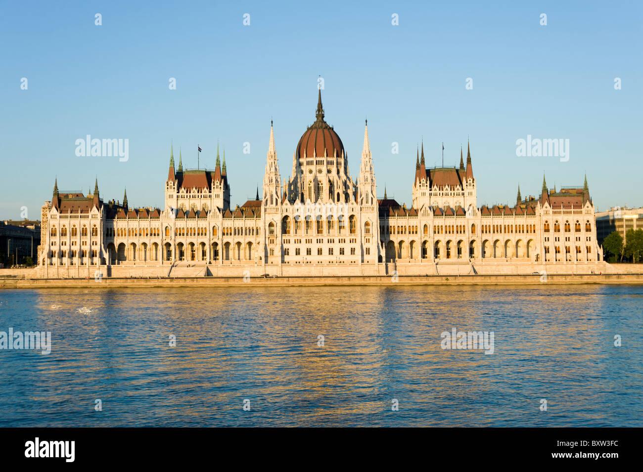 Parlamento ungherese edificio, Budapest, Ungheria Foto Stock